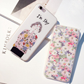 """Fashion Flowers Phone Case For iPhone 6S 6 4.7"""" Plus 6splus conque Hard back case with Soft Side I am shy girl phone cover back"""
