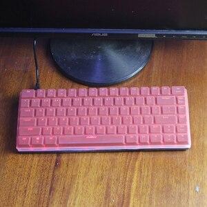 Wysokiej jakości klawiatura mechaniczna pokrywa dla Ajazz geek AK33 RGB 82 klawisze wersja ze stopu pyłoszczelna klawiatura silikonowa pokrywa