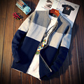 Collar Del Soporte Del otoño de Los Hombres Cardigan S331 Navidad Hombres Suéter Cardigan Hombres Suéter Hombres Chaqueta de punto Masculino