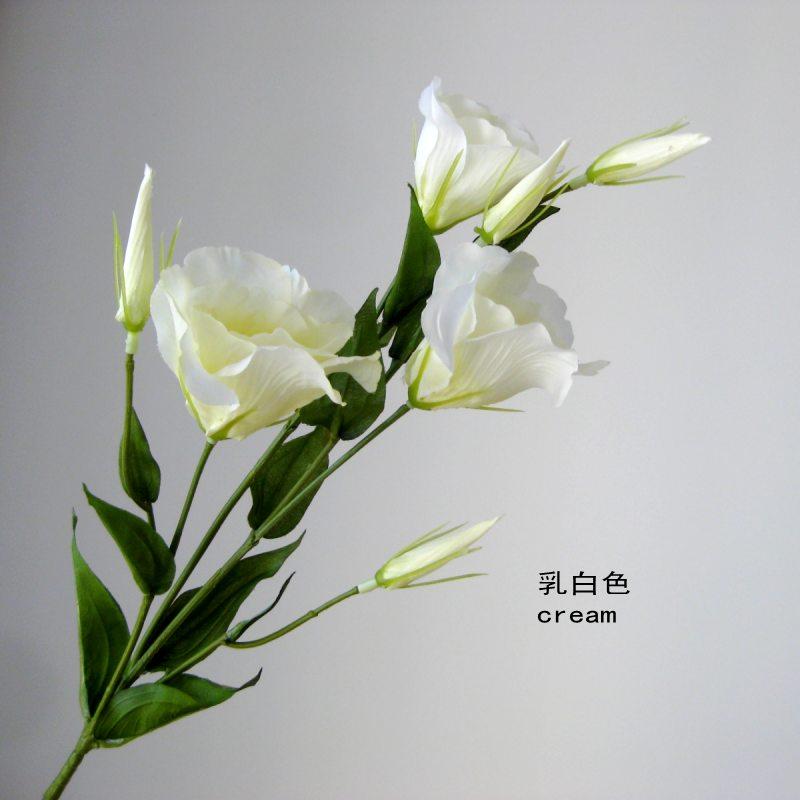 Graceful Vivid Jarní Lisianthus Umělé hedvábí květiny simulace kvalitní velkoobchod svatební dekorace propagace prodej