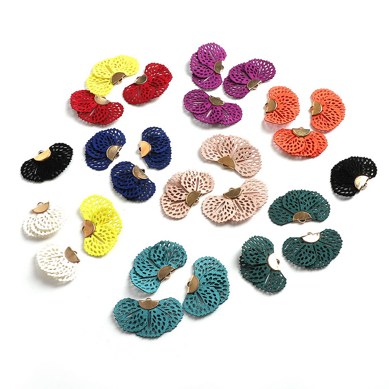 10pcs Velvet Flower Floral Tassel Charms Pendants 25x45mm with Hole 10 Colors for Earrings Necklace DIY Jewelry Makings