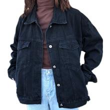 2019 abrigos básicos para mujer, chaqueta vaquera de primavera, chaqueta vaquera Vintage de manga larga, chaqueta vaquera ajustada para mujer, abrigo informal para niñas, prendas de vestir, Tops de algodón