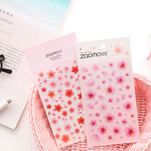Cherry blossom decoration Paper Sticker DIY Scrapbook Notebook Album Sticker Stationery Kawaii Girl Stickers lovedoki summer foil gold sticker alphabet words date notebook decorative stickers planner accessories scrapbook diy stationery