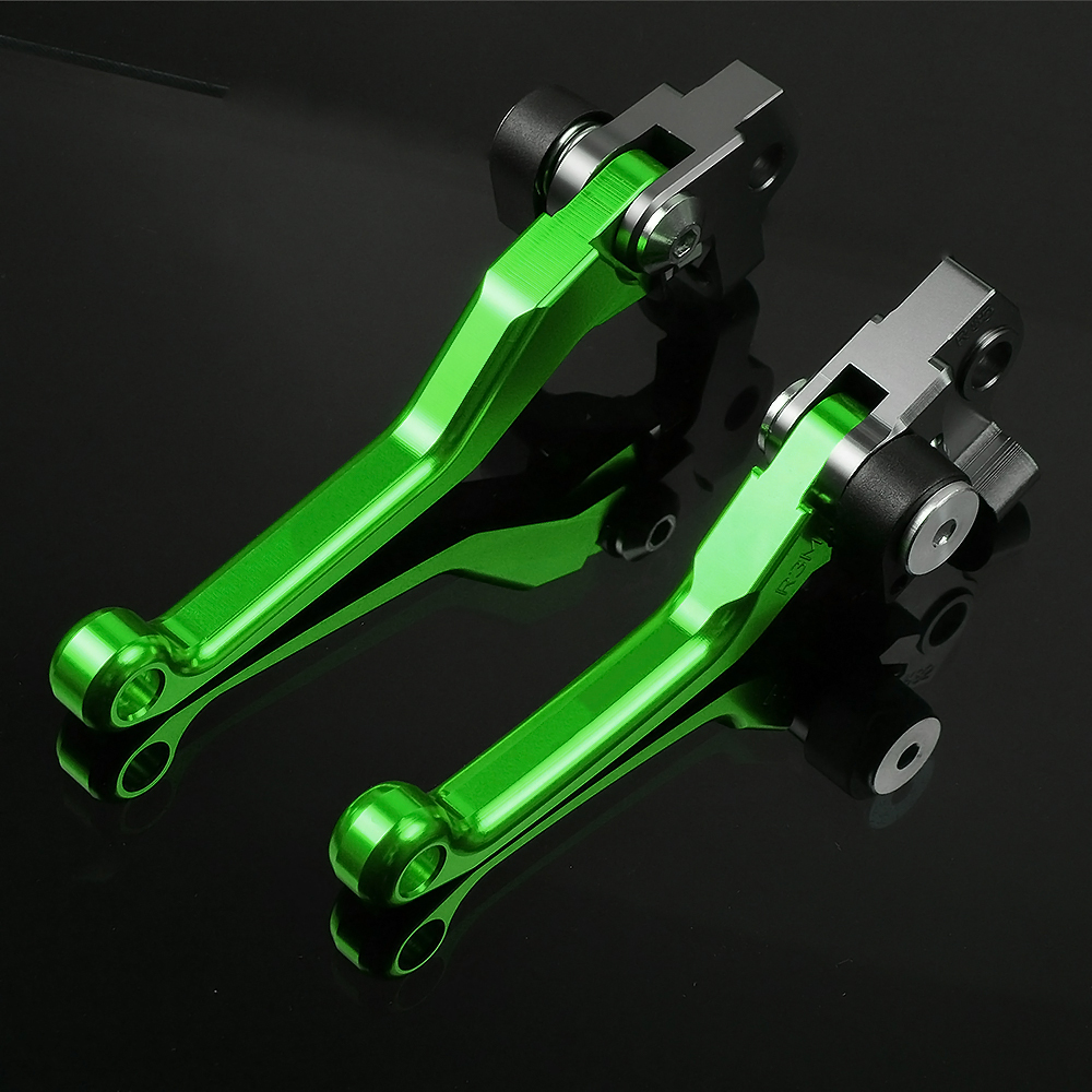 for KAWASAKI KX80 KX 80 2000 01 02 03 04 05 06 07 08 09 10 11 12 13 14 15 2016 CNC Motocross dirt bike Pivot Brake Clutch Levers in Levers Ropes Cables from Automobiles Motorcycles