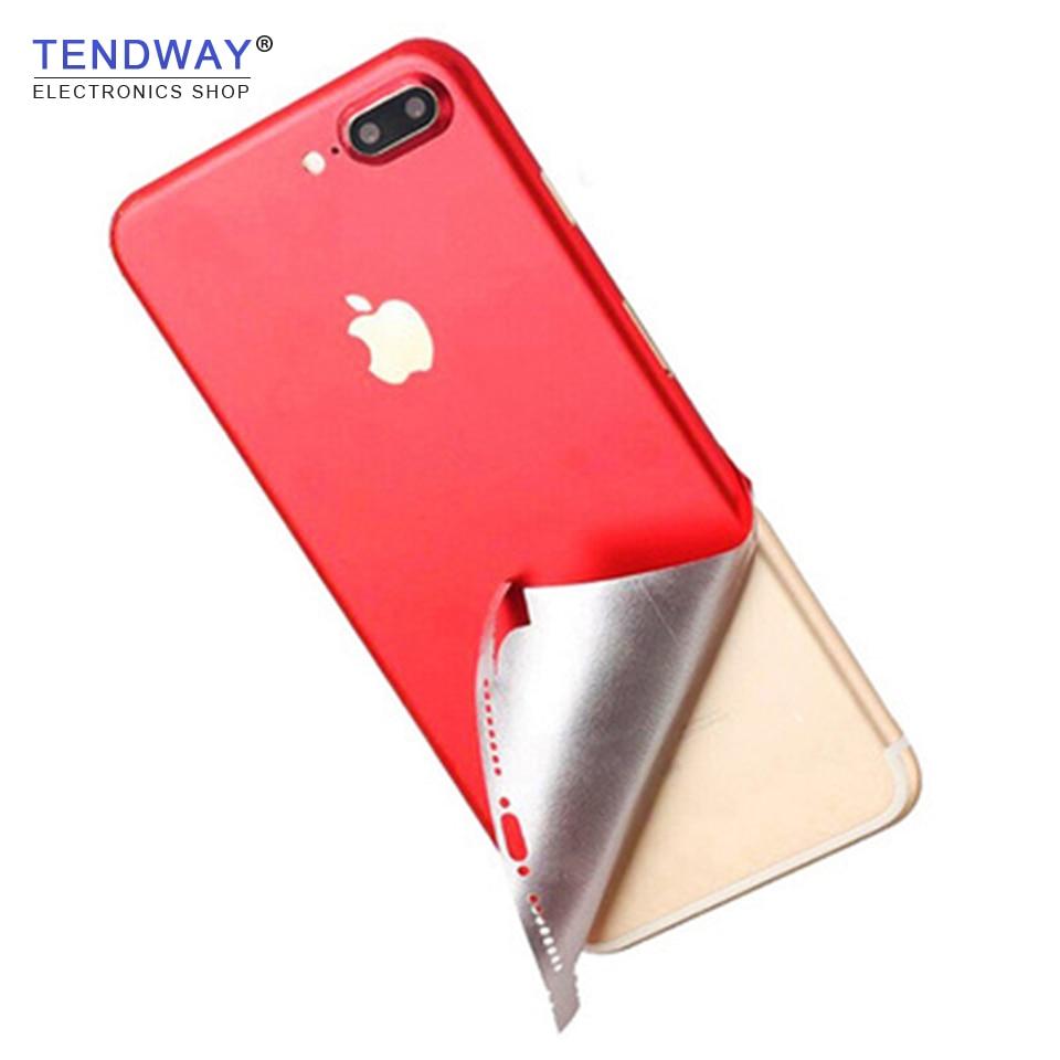 Adesivo de telefone para iphone, pele vermelha para iphone 6 6s 6p 7 7p 8 8p x adesivo traseiro para iphone skins do telefone