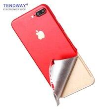 Pegatina de piel para iphone 6 6S 6P 7 7P 8 8P X piel roja pegatina para móvil pegatina trasera para iphone
