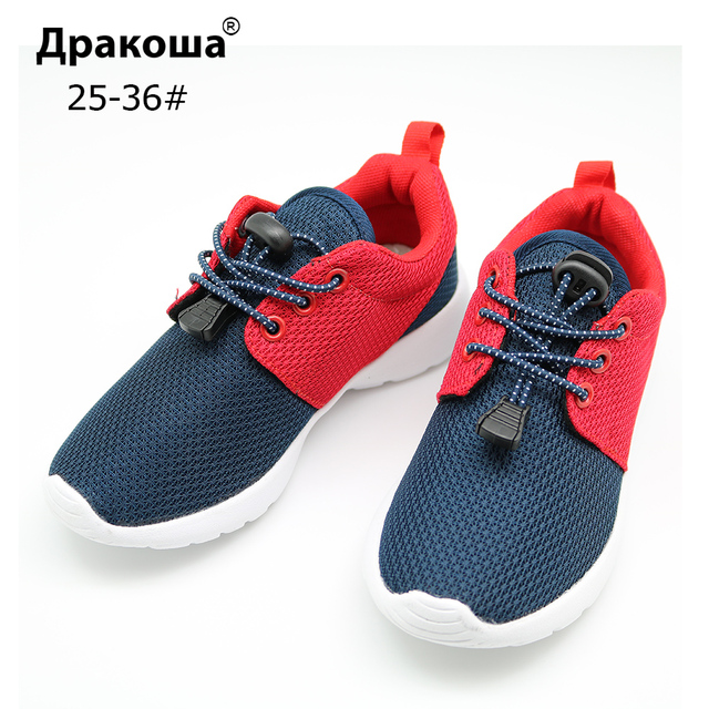 Us 11 74 30 Off Apakowa Sepatu Casual Anak Renda Elastis Ringan Mesh Anak Sepatu Anak Laki Laki Anak Perempuan Sepatu Bernapas Sepatu Olahraga Uni