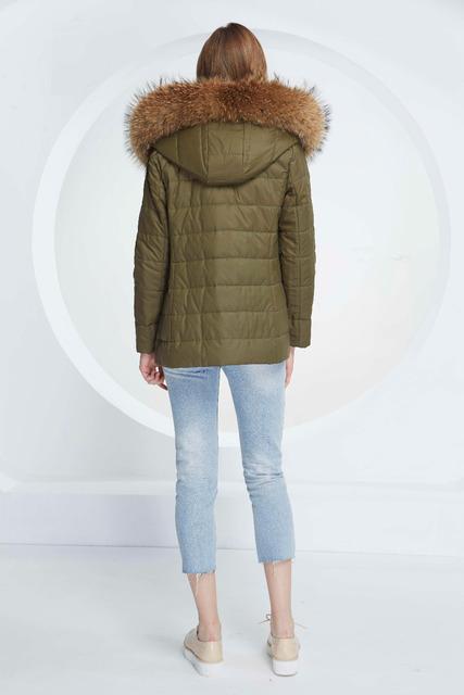 Basic Vogue Women Winter 3-Ways Conversion Two Tones Color Casual Slim Fit Cotton Parka Jackets with Fur – M16108