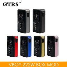 기존 GTRS Vboy 222W 박스 모드 폭스 바겐 / TCR / TC 전자 담배 Vape Mod HD 배경 화면 변경 가능 Ecig Vaper Mods 듀얼 18650 배터리 모드