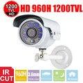 Vanxse cctv 1/3 sony hd cmos 6 pcs matriz leds ir-cut 960 h/1200tvl 3.6mm d/n outdoor camera bala de segurança w/suporte
