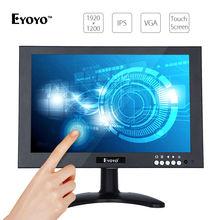 Eyoyo 10″ LCD HDMI Monitor IPS EDP 1920*1200 16:10 VGA W/Remote Video Audio Touch Screen BNC Input 600cd/m2 PC Security Camera