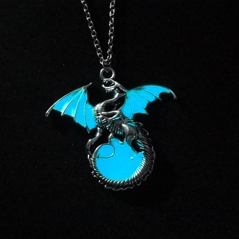 2017 Дракон панк светящийся дракон подвески и ожерелья
