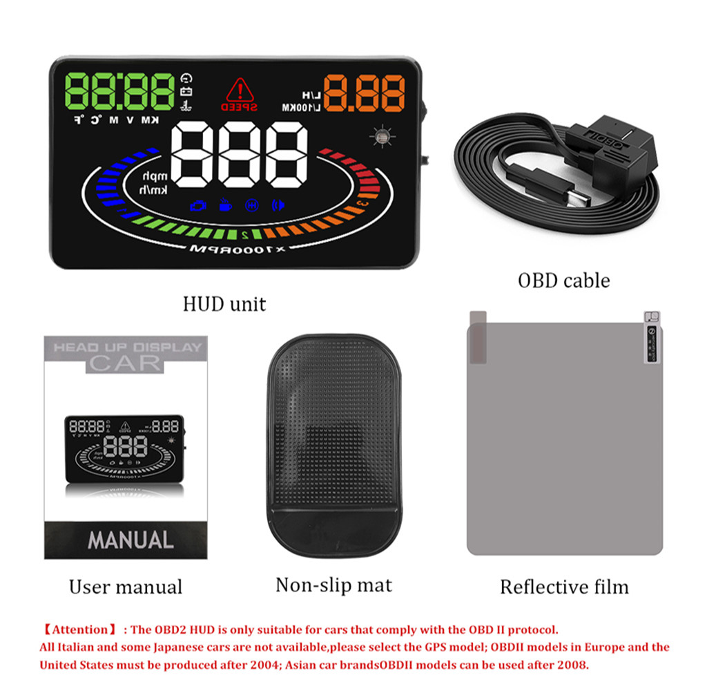 Image 5 - GEYIRE E300 HUD OBD2 Head Up Display Car velocidad proyector OBD UE MPH KM/H Digital Coche velocimetro enel parabrisas Proyector-in Head-up Display from Automobiles & Motorcycles