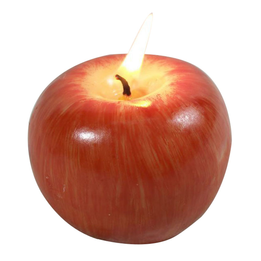 Apple shaped fruit candle home decoration novelty gift for Apples decoration for home