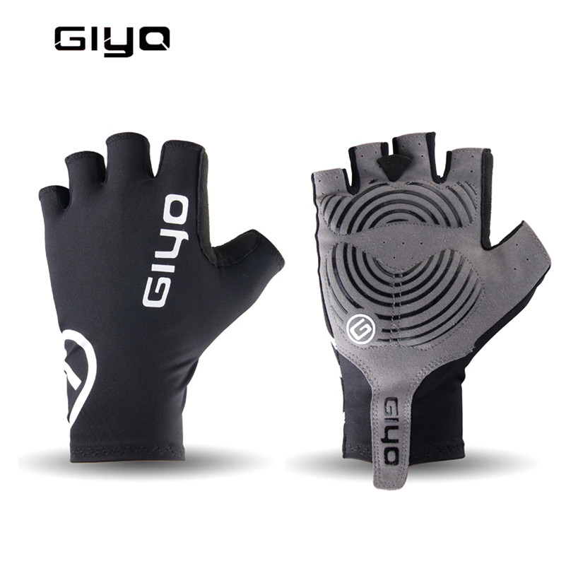 GIYO Breathable Cycling Gloves Anti Slip Gel Pad Road Bike Short Half Finger Gloves Men Summer Sports Bicycle MTB Bikes Gloves mtwe9018 anti slip half finger bicycle riding cycling gloves blue grey black xl size pair