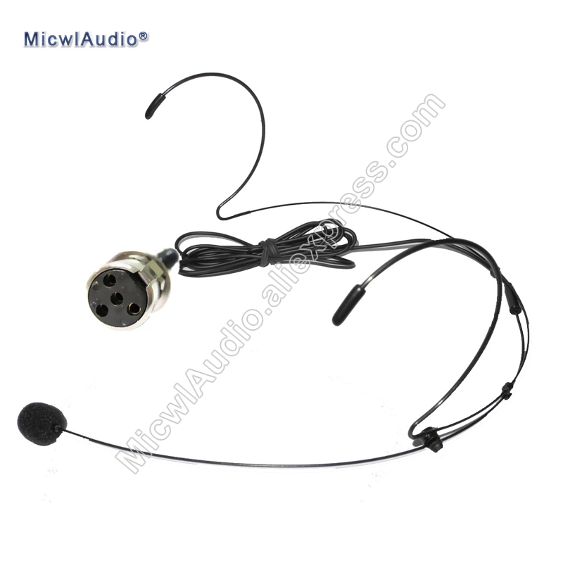 headset microphone conference stage headworn condenser microphone mini 4pin xlr for shure ta4f. Black Bedroom Furniture Sets. Home Design Ideas