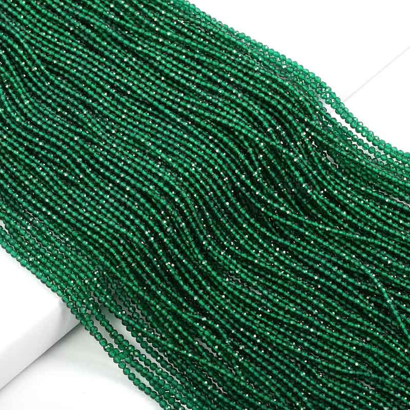 Маленькие бусины из натурального камня изумруды 2 3 мм сечение свободные бусины для изготовления ювелирных изделий ожерелье DIY браслет - Цвет: Emerald