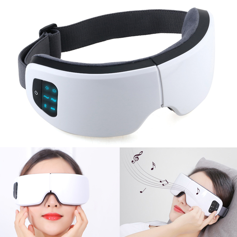 Upgrade Electric Eye Massager Heating Therapy Eye Relaxion Device Multifunction Eyes SPA Air Pressure Shiatsu Massage