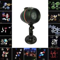 LED 12pattern Christmas Laser Snowflake Projector Waterproof Disco Home Garden Star Light Outdoor Indoor christmas Decoration