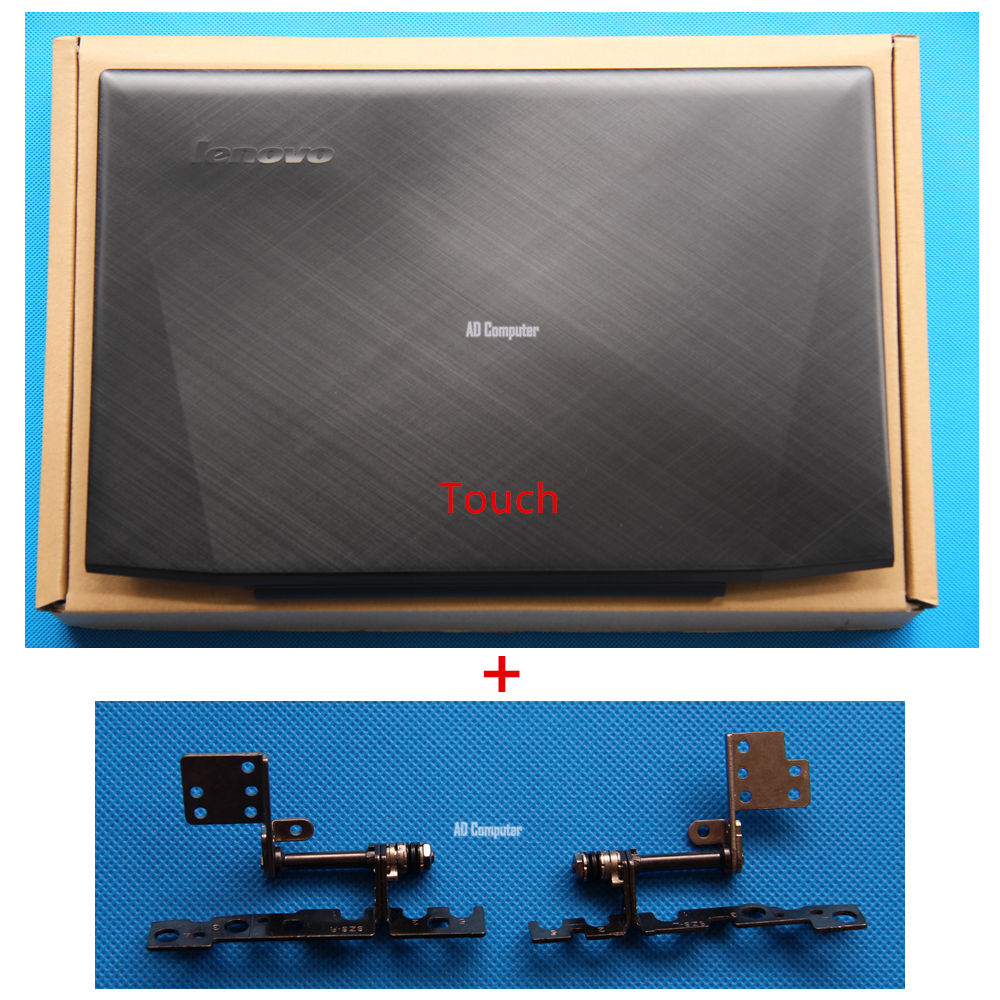 New Original Lenovo Y50 Y50-70 Lcd Rear Lid Back Top Cover + Hinges Touch 15.6 AM14R000300 AM14R000100 new original lenovo y50 y50 70 15 6 lcd top back cover rear lid bezel no touch am14r000400