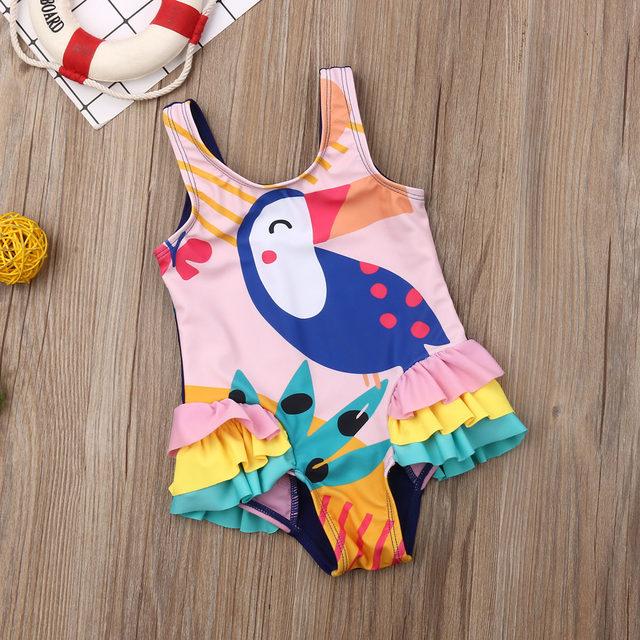0-5T Kids One-piece Swimsuit Toddler Kids Baby Girls Cartoon Bikini Swimwear Swimsuits Bathing Suit Beachwear 22