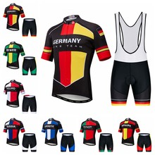 2019 vélo maillot ensemble hommes cyclisme maillot cuissard vtt bas hauts Mountian Raod vélo costume Ropa Ciclismo espagne allemagne rouge(China)
