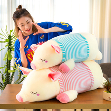 hot deal buy soft down cotton stuffed & plush animals pig doll striped pig plush toy children girl plush pillows creative sale