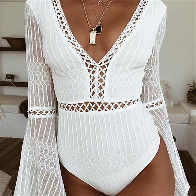 Jumpsuit Sexy Hot Sexy Long Sleeved Siamese Body Suit Rompers Womens Jumpsuit Streetwear Rave Festival Clothing Sexy Bodysuit