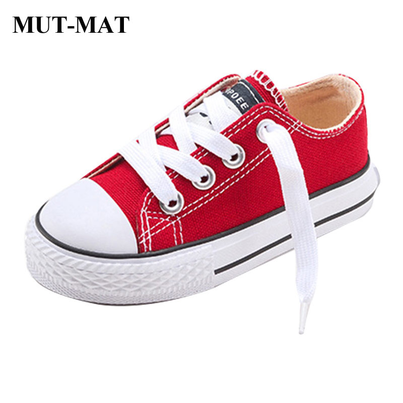 2019 New Classic Children Canvas Shoes Girls Boys Candy Sneakers Rubber Sole Casual Shoes Pure Color  Shoes