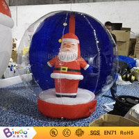 Customized 1.7 Meters inflatable human size snow globes with santa Popular Christmas toys