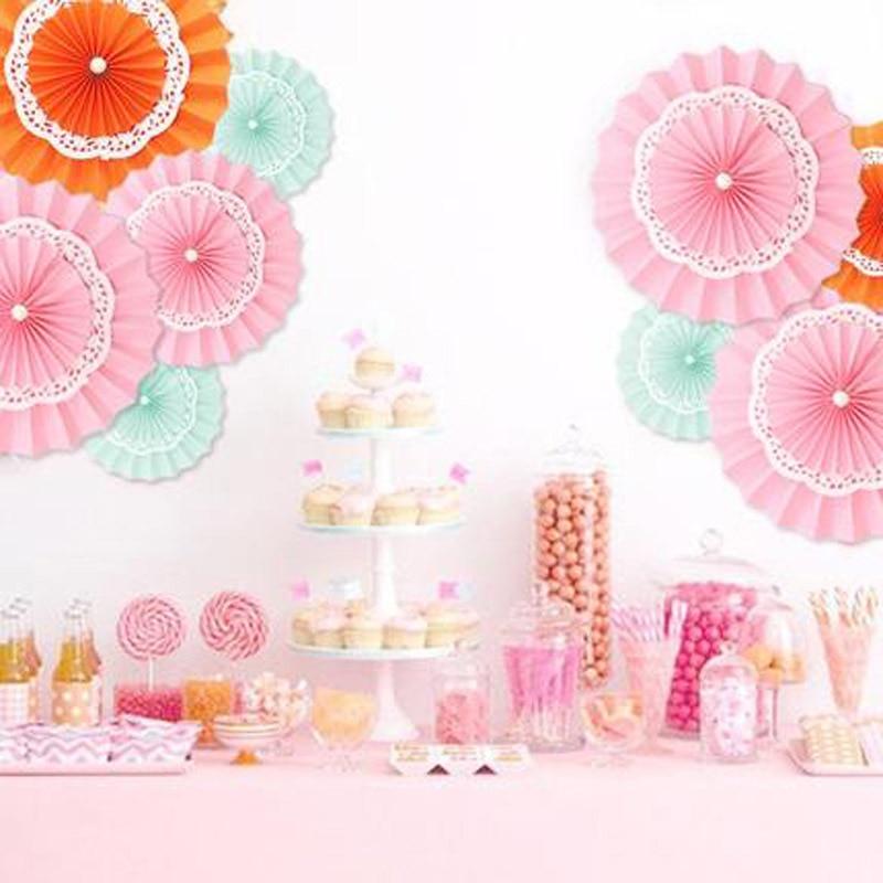 Hanging Tissue Paper Fan Flower Wedding Birthday Party Room Decoration Decor