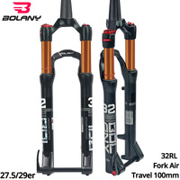 MTB Fork 100mmTraver 32 RL 27.5 29er Inch Suspension Fork Lock Straight Tapered Thru Axle QR Quick Release Fo bicycle Accesorios
