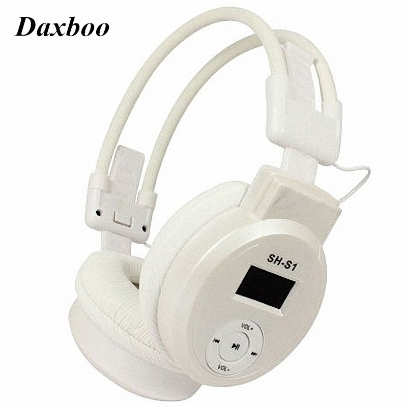 Daxboo Sports HI-FI Headphone MP3 Player AUX Headset + FM Radio + TF Card Reader Slot 3 in 1 Earphones For Music Playing r03 headset mp3 player w usb tf card slot fm radio usb cable pink silver