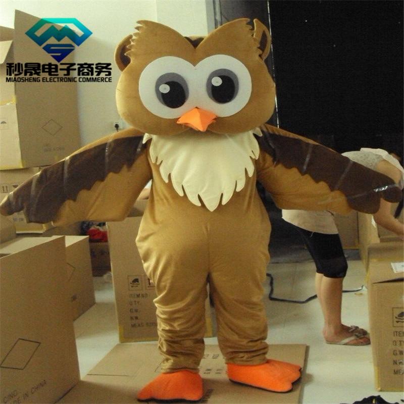 2017 nouveau Costume de mascotte aigle taille adulte costume de dessin animé hibou brun de pâques boutique haut de gamme