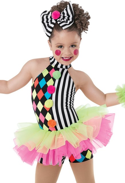 33400fc7f917 Girls Stage Performance Clown Dance Costumes for Kids Tulle Ballet ...