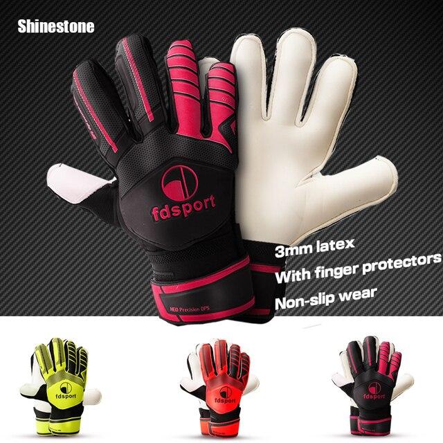 Guantes de portero de fútbol profesional de varios colores de marca Shinestone