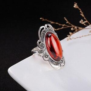 L & P Настоящее кольцо из серебра 925 пробы, винтажное ювелирное элегантное тайское женское кольцо ручной работы, Ювелирное Украшение регулиру...