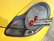 FOR CARBON FIBER 98-01 996 911 986 BOXSTER HEADLIGHTS COVERS EYELIDS TRIMS