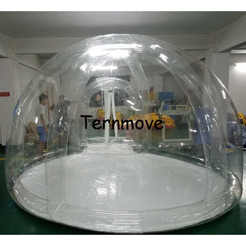 Inflatable Transparent bubble Tent,Outdoor Single Tunnel Bubble Camping Tents with support diameter 3.5M,inflatable lodging tent