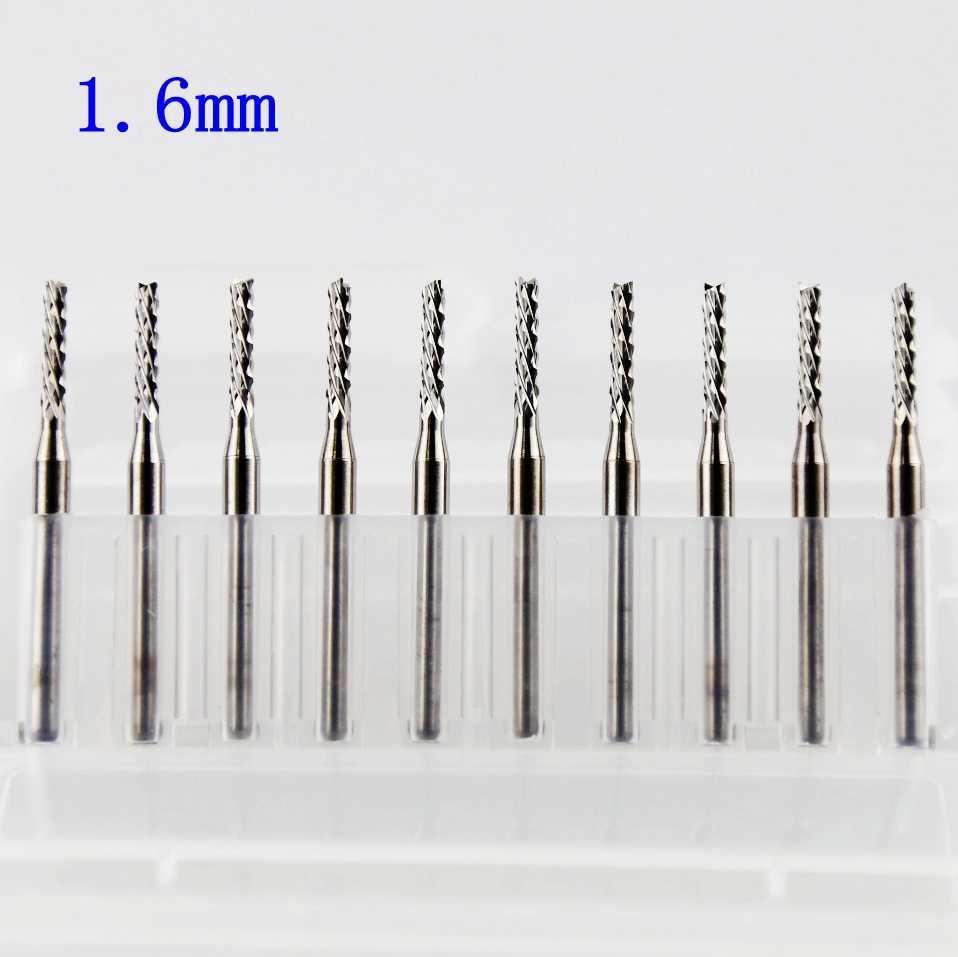 1.0mm 38mm Cutter Edge Mini For PCB Board Engraving Drill Tool Bit Carbide Steel