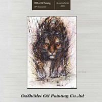 Wholesale House Paint And Wall Painting For Home Decor Idea Oil Painting Tiger Art Painting On