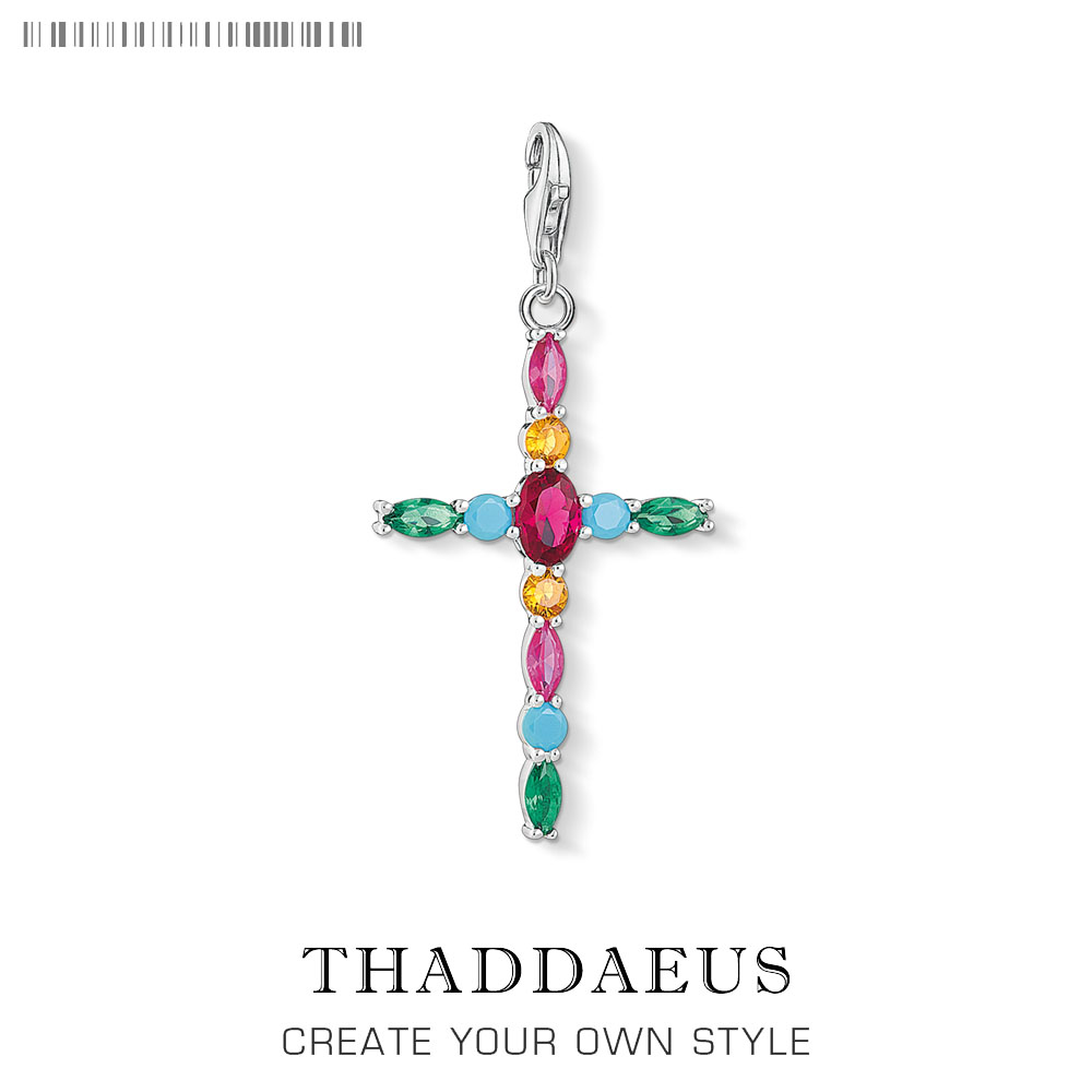 Colorful Cross Charm Thomas Style Club Good Jewelry Bohemia Women Girls Gift In 925 Sterling Silver Fit Bag Bracelet Super Deals