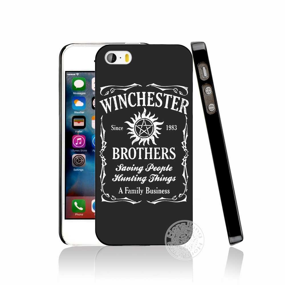 new product a45c4 d527d HAMEINUO Supernatural SPN Jensen Ackles cell phone Cover case for iphone 6  4 4s 5 5s SE 5c 6 6s 7 8 plus case for iphone 7 X