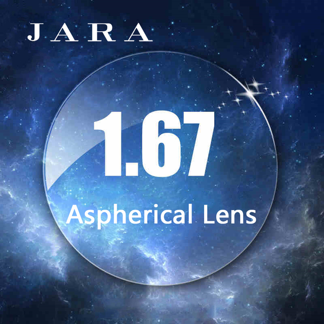 JARA 1.67 Aspherical Lens Anti-UV Hard Myopic Anti-radiation Lenses With Prescription Glasses