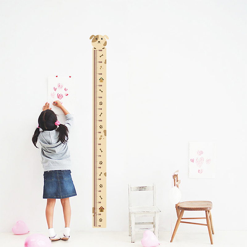 Dog Growth Chart Decorative Wall Stickers For Nursery Kids Room Decorations Home PVC Height Measure Decals Mural Decor Wall Art