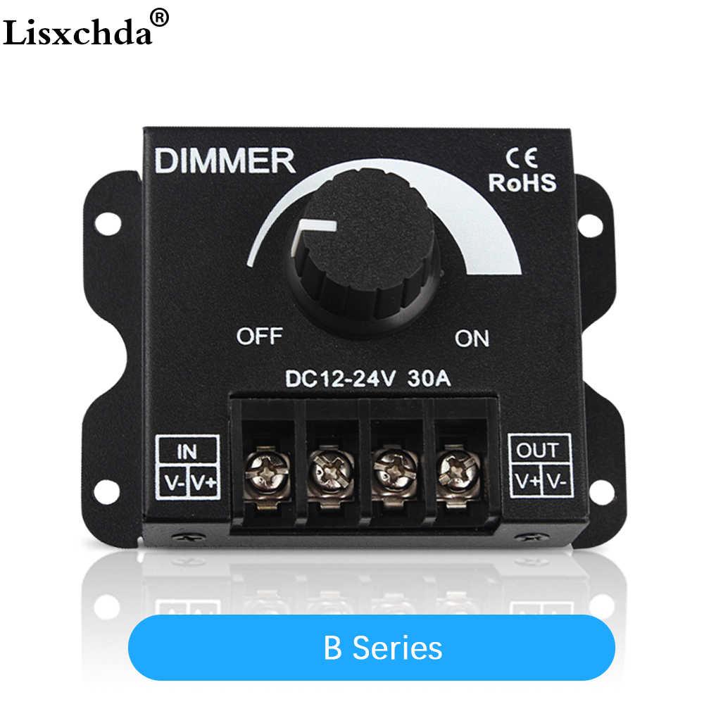 30a led dimmer dc 12v 24v 360w adjustable brightness lamp bulb strip driver single color light  [ 1000 x 1000 Pixel ]