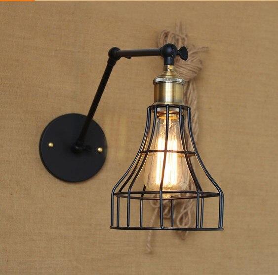 Edison RH Loft Industrial Lighting Wall Lamp Vintage Wall Sconce Arandela Lampara Pared Aplik retro vintage industrial wall lamp lights fixtures indoor lighting in loft style arandela aplik edison wall sconce