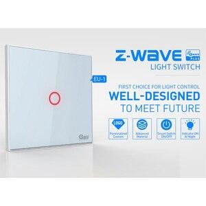 Image 2 - جهاز المنزل الذكي Coolcam مكون من 4 قطع لمفتاح إشارة Z wave يعمل باللمس على شكل عصابة واحدة ومزود بجهاز يعمل باللمس يعمل بنظام التشغيل الآلي للمنزل ومزود بتقنية Z Wave Plus لاسلكي