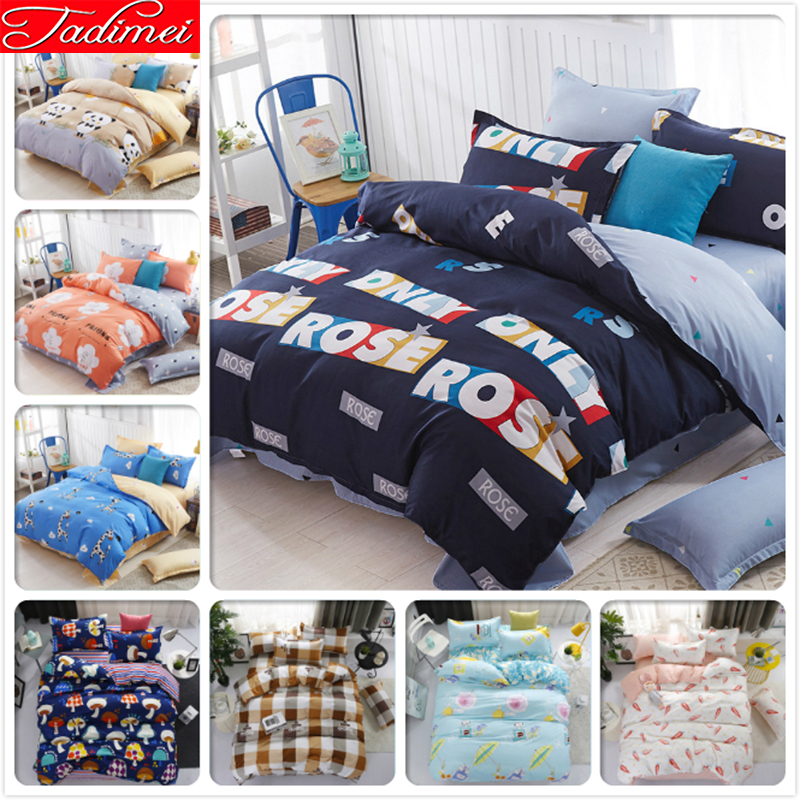 Creative Fashion Duvet Cover 3/4 pcs Bedding Set Adult Kids Child Soft Cotton Bed Linens Single Full Queen King Size BedspreadsCreative Fashion Duvet Cover 3/4 pcs Bedding Set Adult Kids Child Soft Cotton Bed Linens Single Full Queen King Size Bedspreads