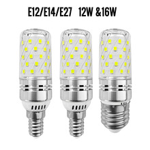 купить E12 E14 E27 SMD2835 LED Corn Bulb 12W 16W LED Lampada Spotlight 110v 220V Home Decoration Lamp 360 Degree Spot Light дешево